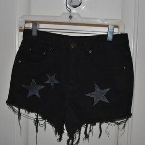 NWT Nasty Gal High Waisted Black Shorts